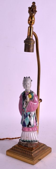 An 18th/19th Century Chinese Famille Rose Figure