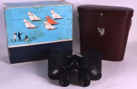A Vintage Pair Of Carl Zeiss Jena Jenoptem 7 X 50 Boxed