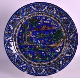 An 18th/19th Century Persian Enamelled Majolica Type