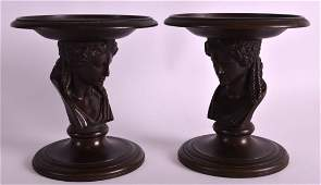 Ferdinand Barbedienne (1810-1892) A fine pair of bronze