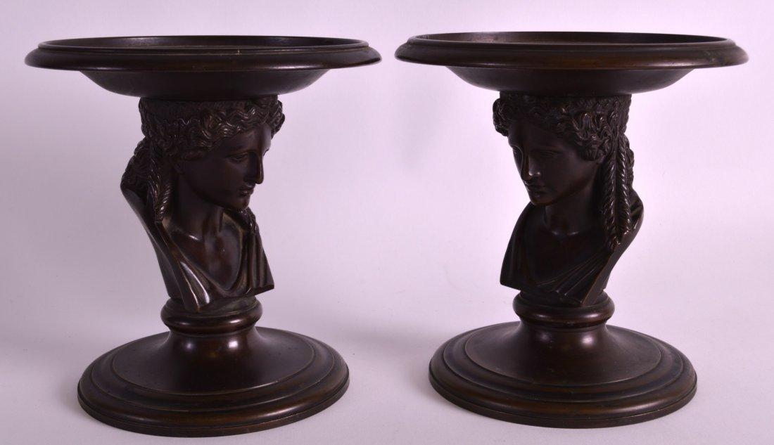 Ferdinand Barbedienne (1810-1892) A fine pair of bronze