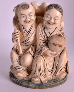 An Early 20th Century Chinese Carved And Polychromed