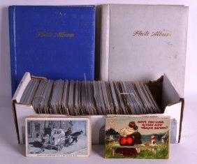 A Large Collection Of Vintage Post Cards Together With