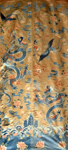 A Fine Late 18th Century Chinese Silk Needlework