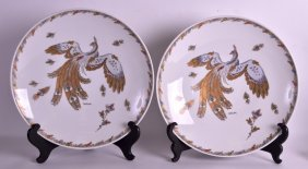A Pair Of German Hutschenreuther Porcelain Dishes