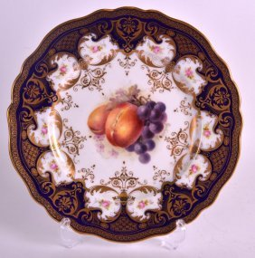 An Early 20th Century Royal Worcester Plate C1912