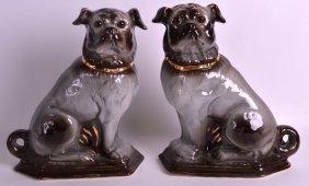 A Pair Of Victorian Scottish Bo'ness Pottery Chimney