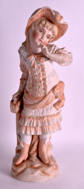 A Late 19th Century German Bisque Porcelain Figure Of A