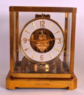 A Jaegar Le Coultre Atmos Clock No. 106176. 9.25ins
