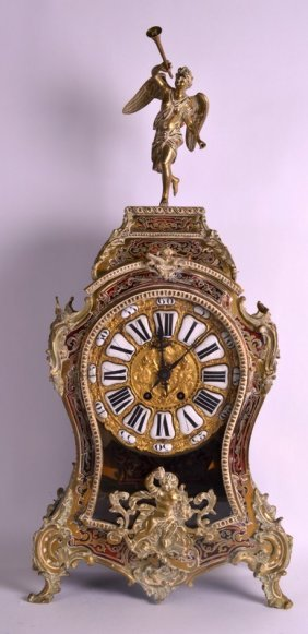 A Large Late 19th Century French Boulle Bracket Clock