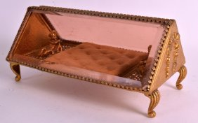 An Early 20th Century French Gilt Metal Glass Fronted