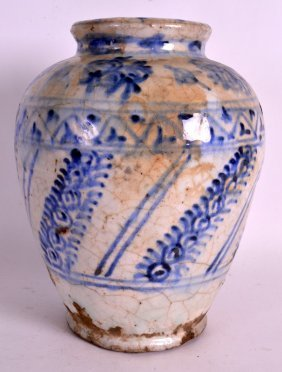 A 17th/18th Century Persian Blue And White Baluster