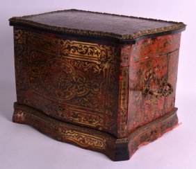 A Lovely Mid 19th Century French Boulle Work Liquor Box