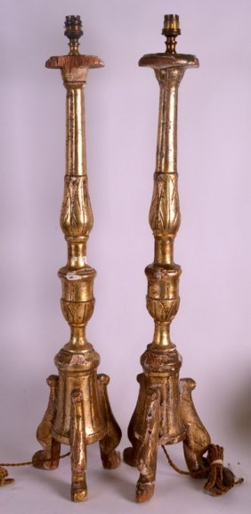 A Pair Of Early 18th Century Dutch Carved Giltwood