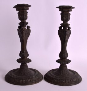 A Pair Of Early 19th Century European Bronze