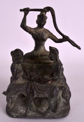 A 19th Century Indian Bronze Figural Group Depicting A
