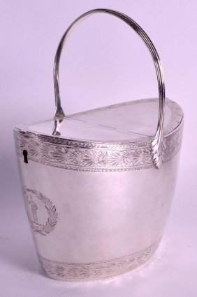 A Fine And Rare George Iii Silver Tea Caddy By Henry