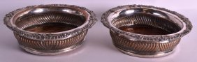 A Pair Of 19th Century Old Sheffield Plate Wine