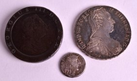 A 200bc Small Roman Silver Coin Together With An