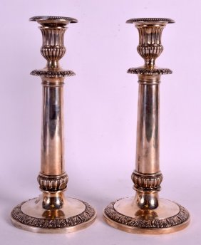 A Pair Of Late 18th Century Continental Silver