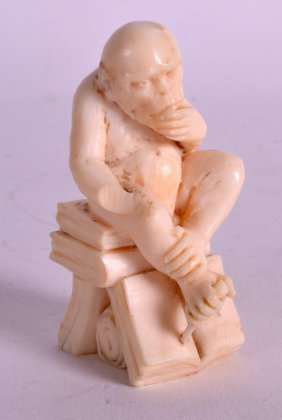 An Early 20th Century Carved European Ivory Figure Of
