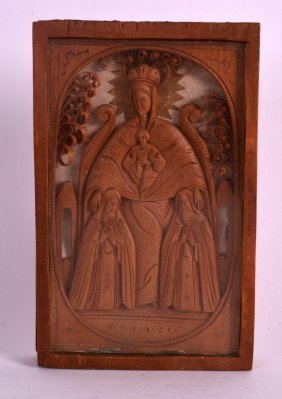 A 19th Century Italian Carved Boxwood Reliquary