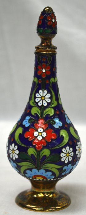 An Early 20th Cetury Russian Silver And Enamel Scent