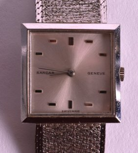 A 1950s Sarcar Stainless Steel Back Ladies Wristwatch.