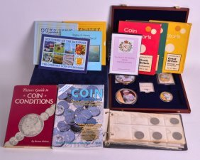 A Large Collection Of Coins Together With Various Other