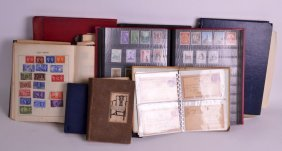 A Collection Of Stamps Formed In Over 9 Albums, From