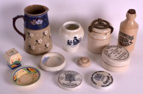 A Collection Of Advertising Ceramics To Include A