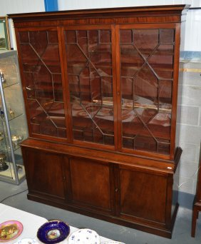 A Very Large George Iii Mahogany Display Case With