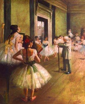 Follower Of Degas (20th Century) French, 'ballet Scene'