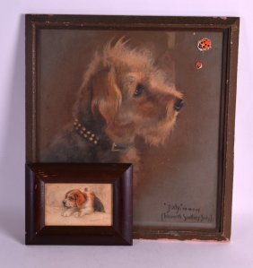 Florence Jay (1905-1920) Pastel, Together With Another