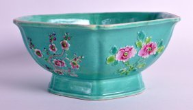 An Early 20th Century Chinese Hexagonal Porcelain Bowl