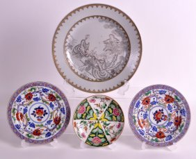 A Pair Of 19th Century Japanese Imari Saucers Together