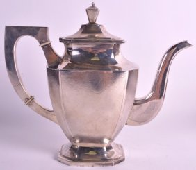 A Rare Early 20th Century Chinese Export Silver Teapot