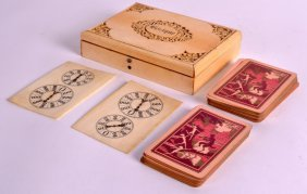 A 19th Century Chinese Canton Carved Ivory Gaming Box