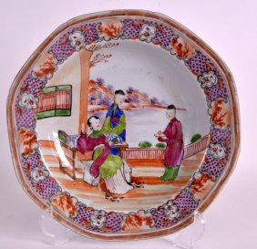 An 18th Century Chinese Mandarin Export Dish Qianlong,