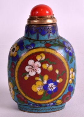 A Late 19th Century Chinese Cloisonne Enamel Snuff