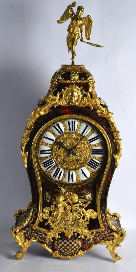 A FINE 19TH CENTURY FRENCH BOULLE ORMOLU BRACKET CLOCK