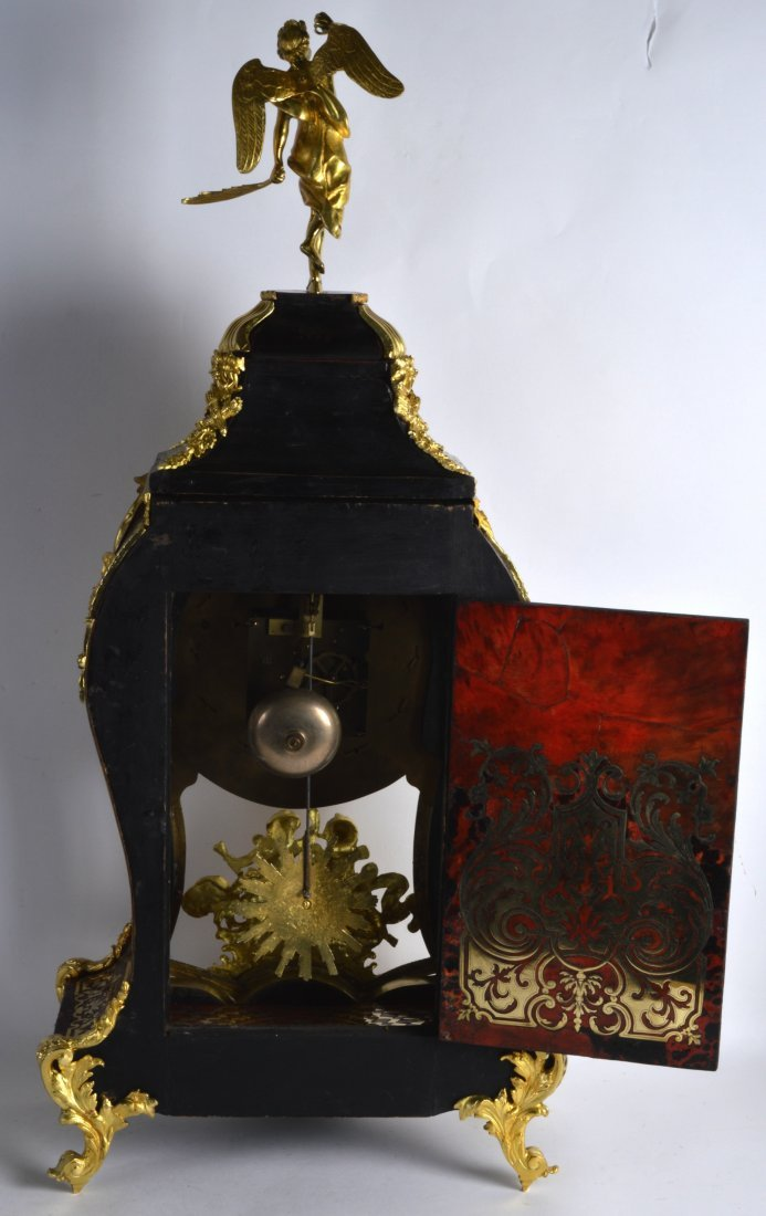 A FINE 19TH CENTURY FRENCH BOULLE ORMOLU BRACKET CLOCK - 2