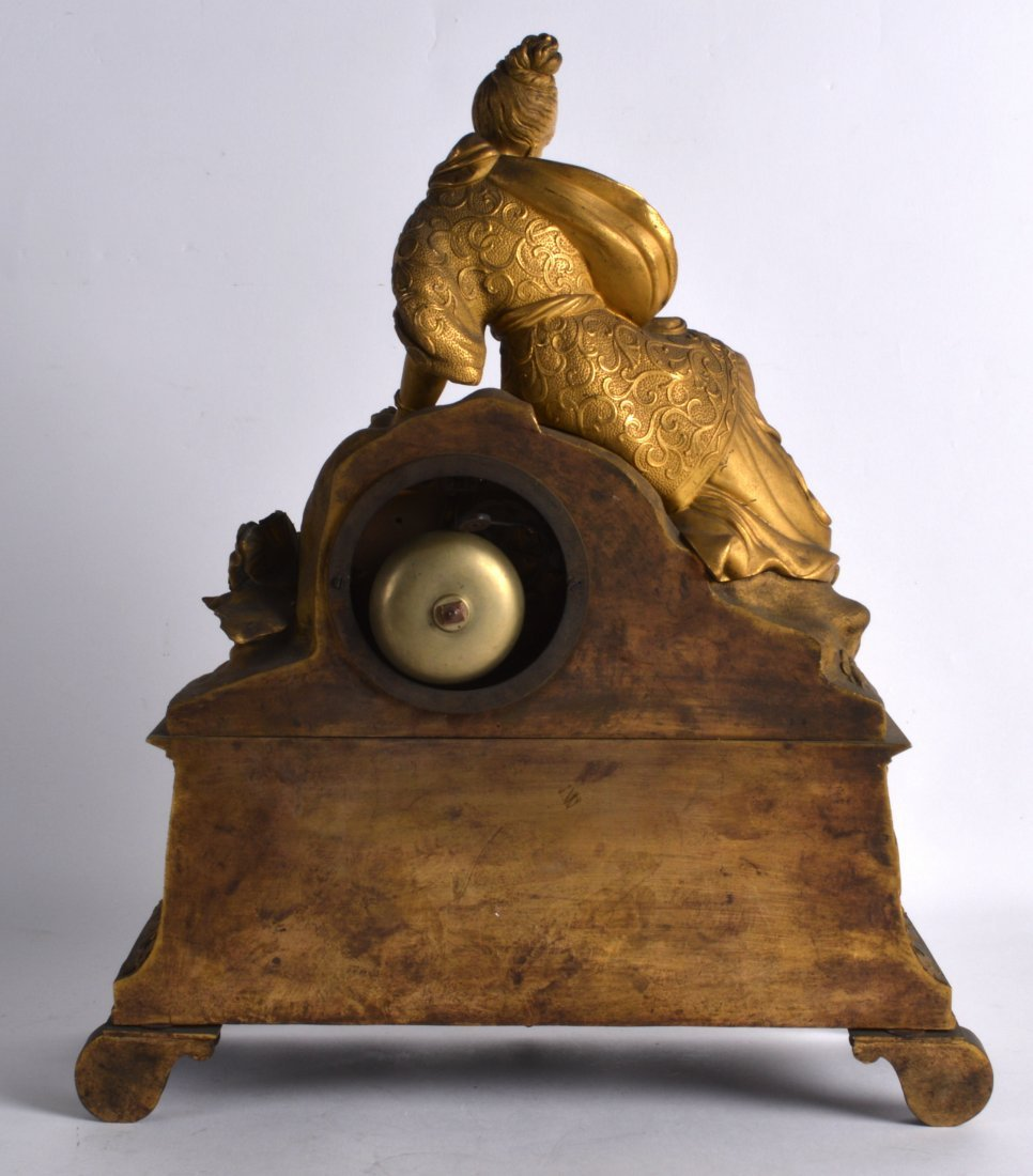 A LATE 19TH CENTURY FRENCH ORMOLU MANTEL CLOCK in the - 2