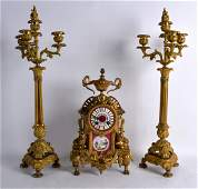 A LATE 19TH CENTURY FRENCH ORMOLU AND SEVRES PORCELAIN