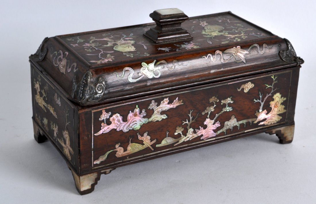 A LATE 19TH CENTURY CHINESE CARVED HONGMU MOTHER OF