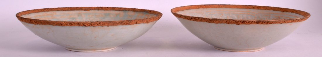 A PAIR OF CHINESE SUNG STYLE PALE BLUE GLAZED PORCELAIN