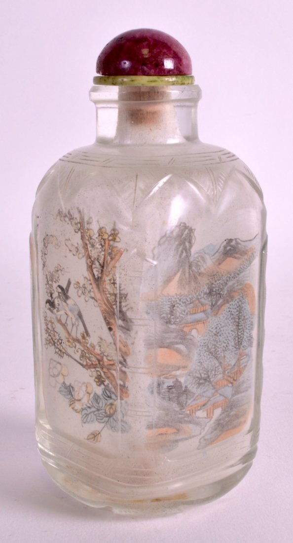A LARGE LATE 19TH CENTURY CHINESE RECTANGULAR GLASS - 2