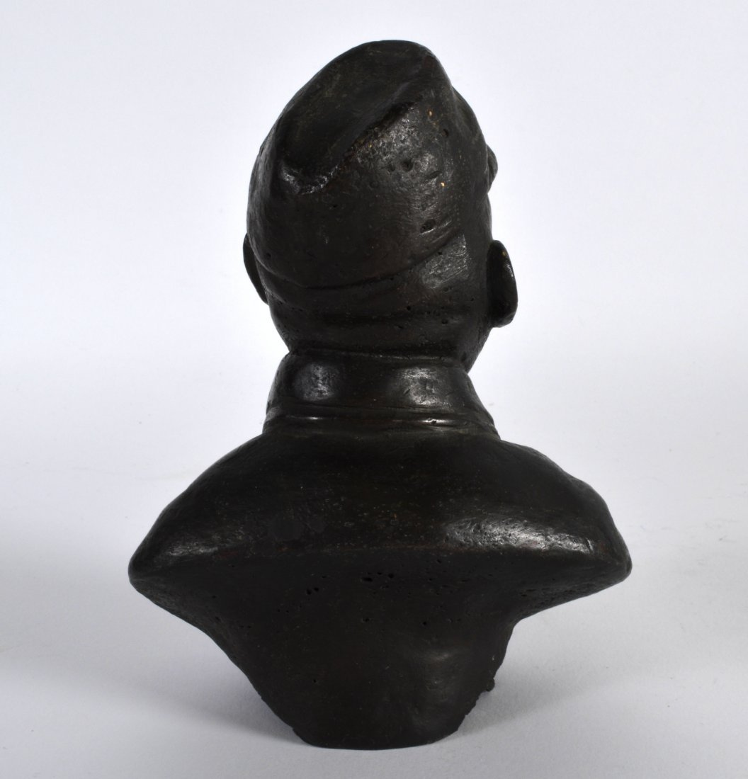A CHINESE BRONZED BUST OF A COMMUNIST GENERAL modelled - 2