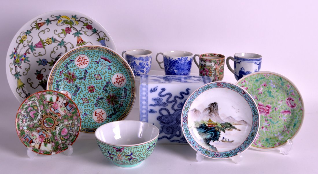 A COLLECTION OF CHINESE CERAMICS in various forms,