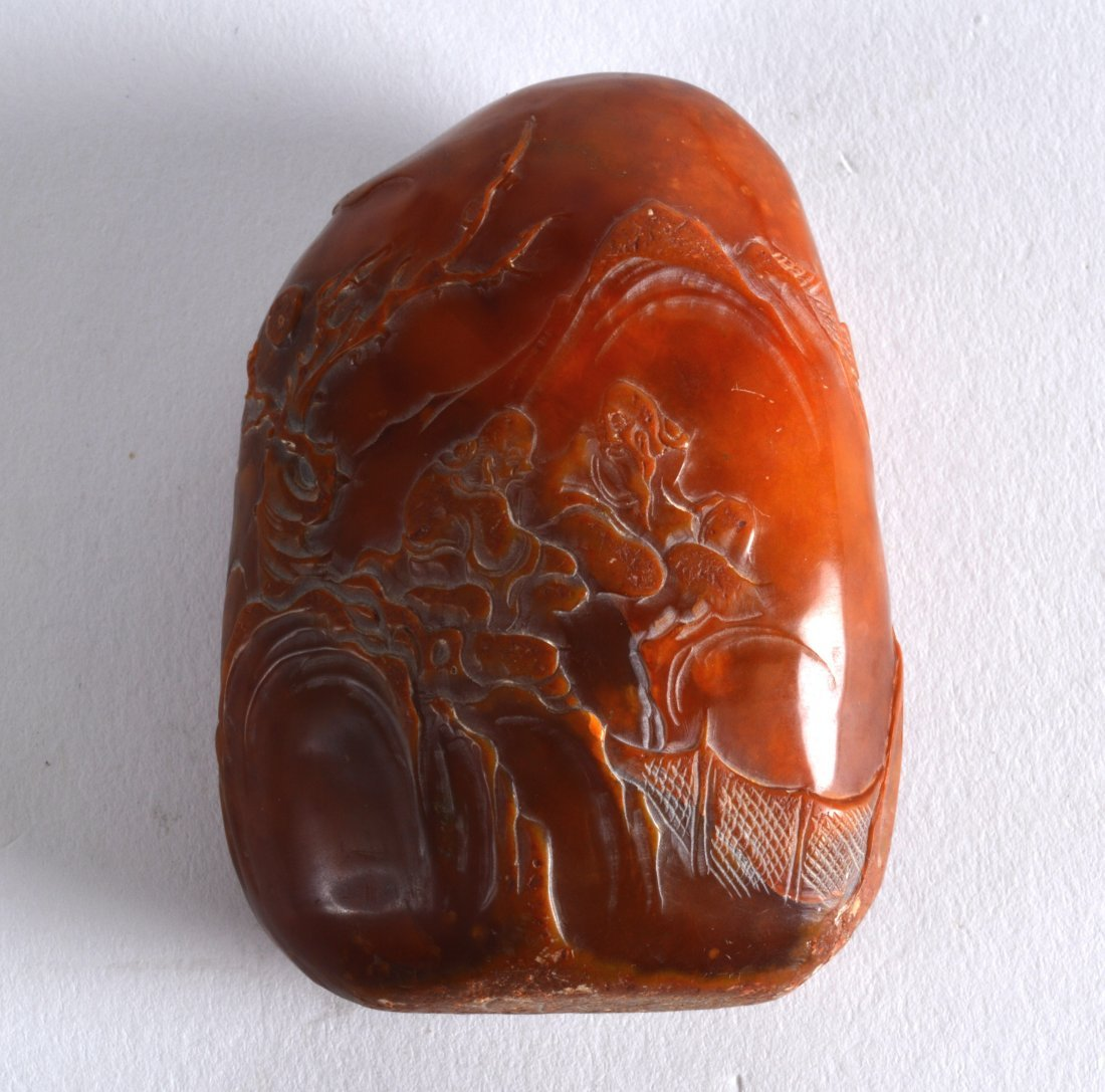 AN EARLY 20TH CENTURY CHINESE CARVED TIANHUANG BOULDER